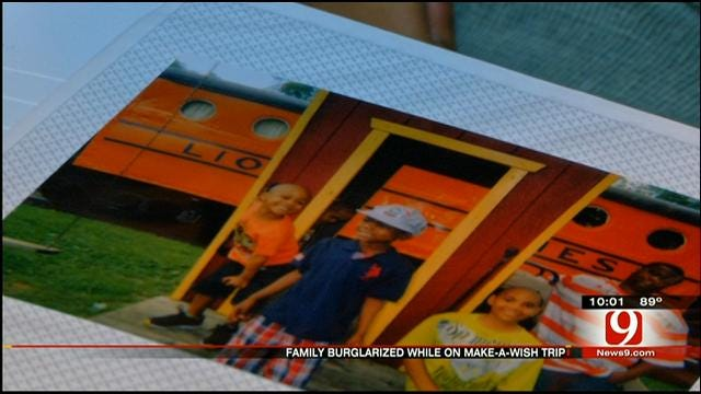 Back From Make-A-Wish Vacation, Family Finds Home Burglarized