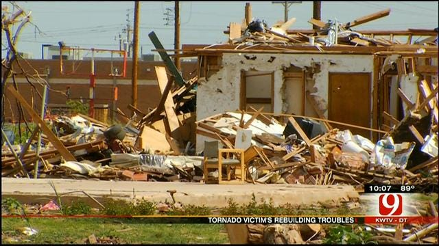 Paperwork Problems Delay OKC Man's Attempt To Rebuild After Tornado