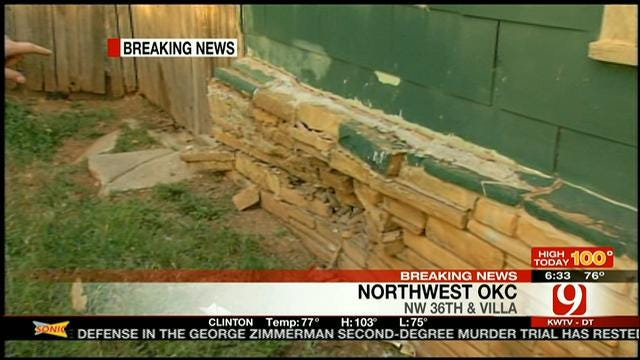 Car Crashes Into NW OKC House After Attempted Carjacking