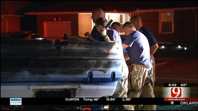 Boat Catches On Fire At SW OKC Apartment Complex