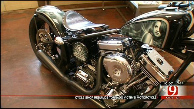 OKC Bike Builder Restores Motorcycle For Tornado Victim