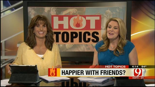 Hot Topics: Study Shows People Are Happier With Friends