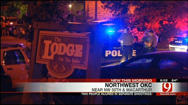 Two Injured In Separate Shootings In NW OKC
