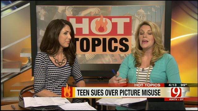 Hot Topics: Teen Sues Over Picture Misuse