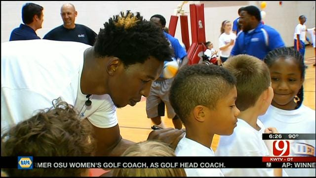Thunder's Thabeet Holds Kids Camp For Tornado Victims
