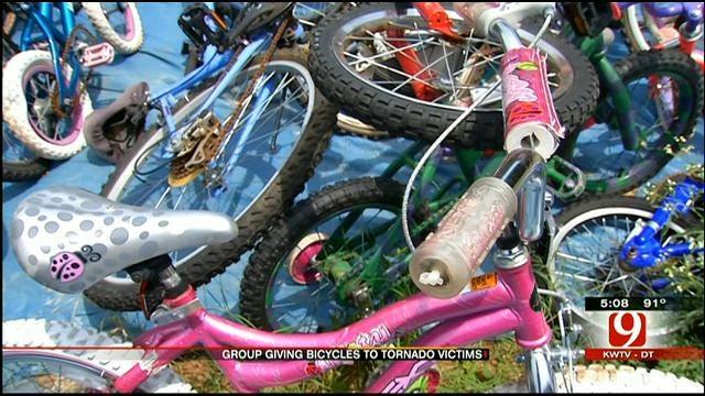 OK Non-Profit Donates Bikes To Young Tornado Victims