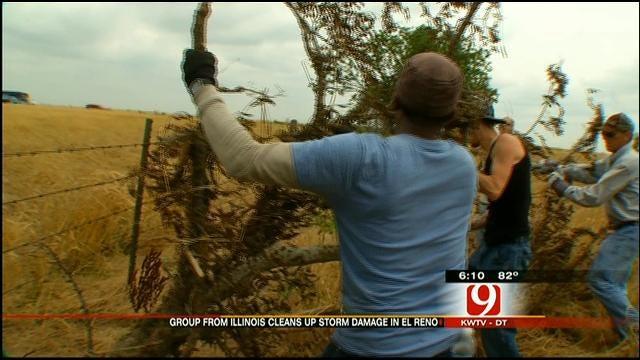 Illinois Group Helps Farmers In El Reno Clear Tornado Debris