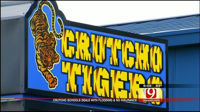 Crutcho School District Cleans Up School With No Flood Insurance
