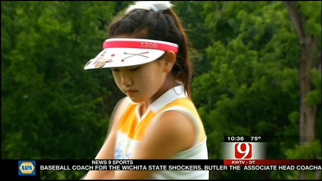 10-Year Old Golfer Competing In Women's Amateur Tournament
