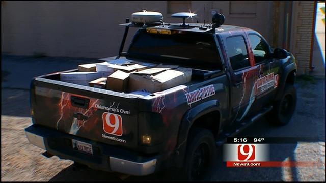 David Payne, News 9 Drop Off Supplies For El Reno Storm Victims
