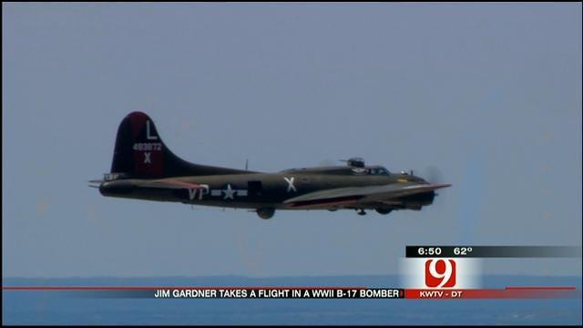 News 9 Chopper Pilot Jim Gardener Takes A Spin In A B-17