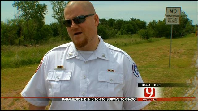 EMSA Paramedic Survives Tornado By Taking Cover In Ditch