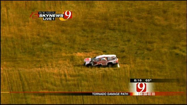 SkyNews 9: Weather Channel 'Tornado Hunt' Car Caught In Storm