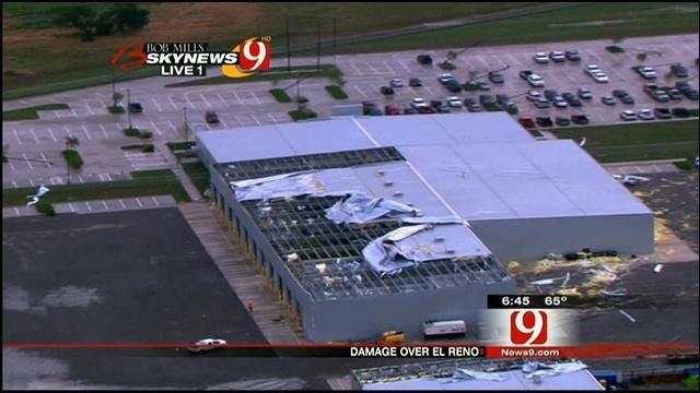 SkyNews 9: Tornado Damage Path Northeast Of El Reno