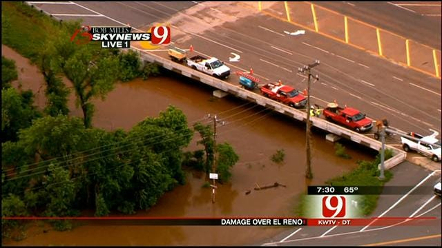 SkyNews 9 Flies Over Flooding In El Reno
