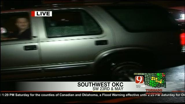 Floodwaters Stymie Drivers In Downtown OKC