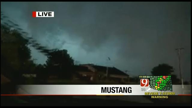 Storm Tracker Val Caster Chases Large Tornado In Mustang