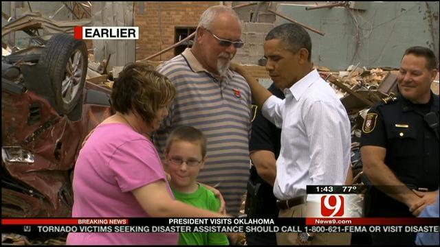 President Obama Tours Moore Tornado Damage