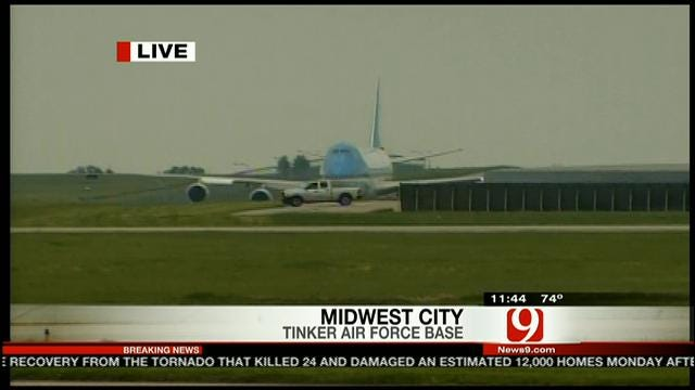 Air Force One Landing At Tinker Air Force Base