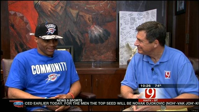 Westbrook Talks About Helping Out With Tornado Recovery