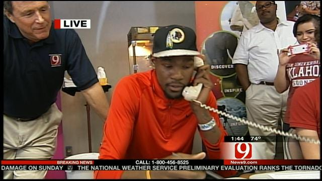 Kevin Durant Talks About Oklahoma Relief Efforts