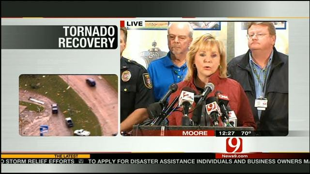 Governor Fallin Updates Recovery Efforts From OK Tornadoes