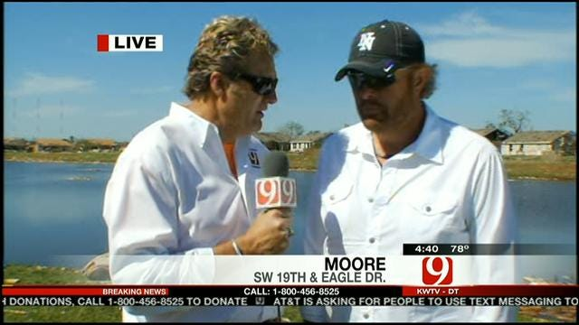 News 9's Kelly Ogle Interviews Toby Keith In Moore