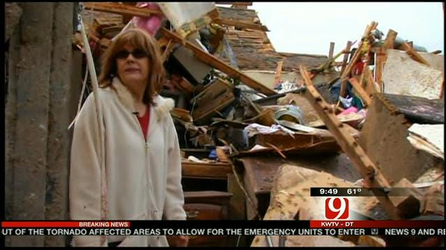 News 9's Chuck Fisher Speaks To Moore Tornado Victim