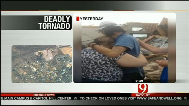 Woman Reunites With Family Members Affected By Massive Tornado