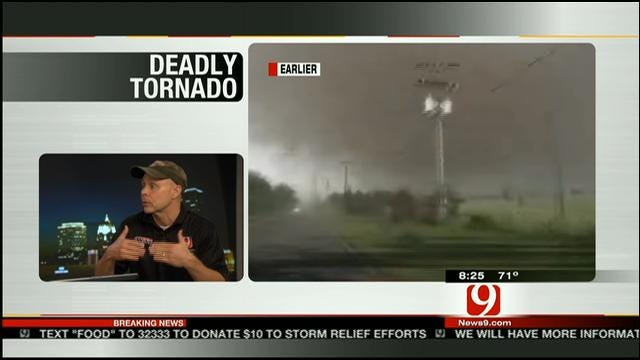News9 Storm Chaser Val Castor Chases Massive Tornado In Moore