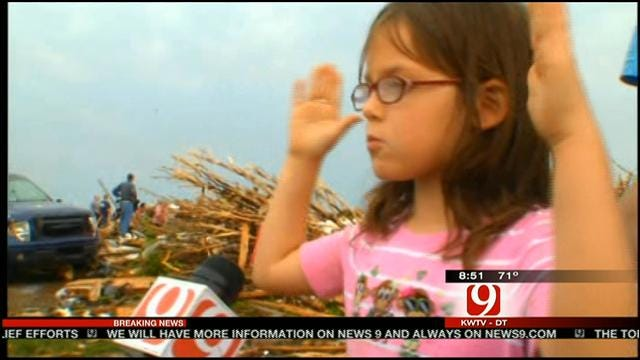 7-Year-Old Girl Shares Story Of Surviving Massive Moore Tornado
