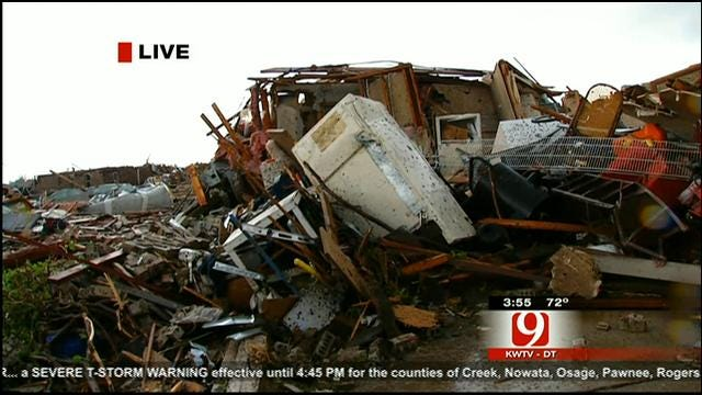 Massive Tornado Causes Damage In Oklahoma City Metro