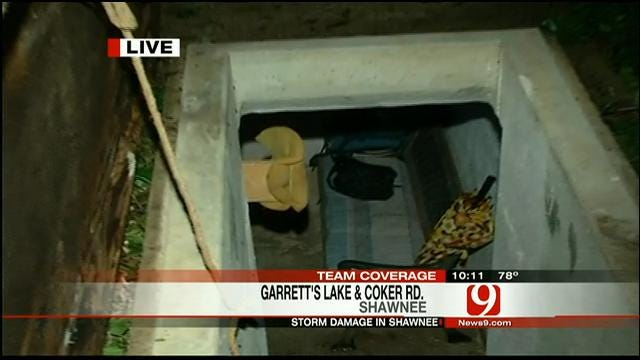 News 9 Reporter Michael Konopasek Visits Shawnee Storm Victims