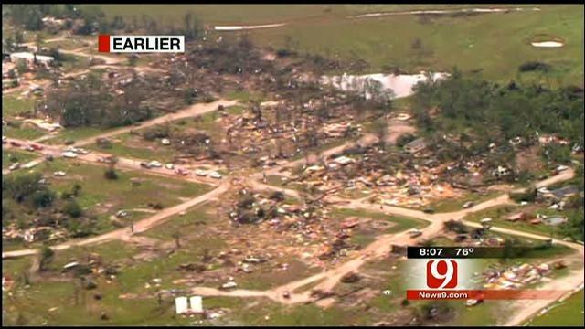 WEB EXTRA: Trailer Park Near Shawnee Leveled By Tornado