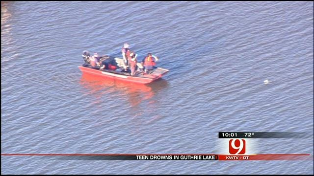 Crews Locate Drowning Victim's Body At Lake Near Guthrie