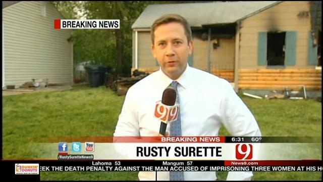 Man Escapes SW OKC House Fire