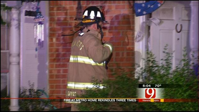 Fire Rekindles Three Times At NW OKC Home