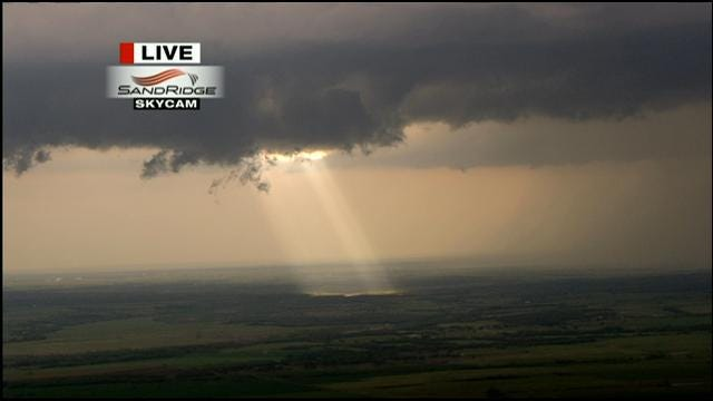 Bob Mills SkyNews9 HD Captures Sunlight Breaking Through Storm