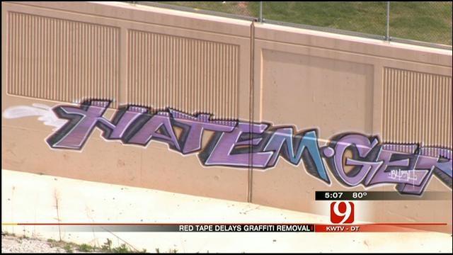 Clean Up Of I-40 Graffiti In OKC Hits A Snag