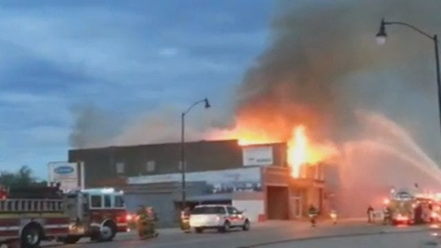 WEB EXTRA: News 9 Viewer Shares Video Of Tuttle Fire