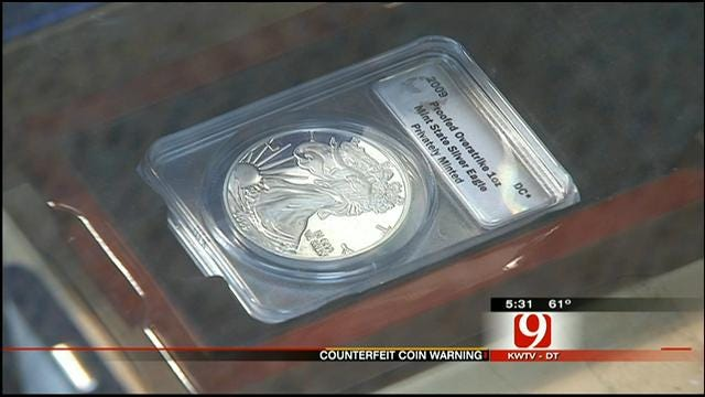 Oklahoma Coin Dealer Warns Of Counterfeit Gold, Silver Coins
