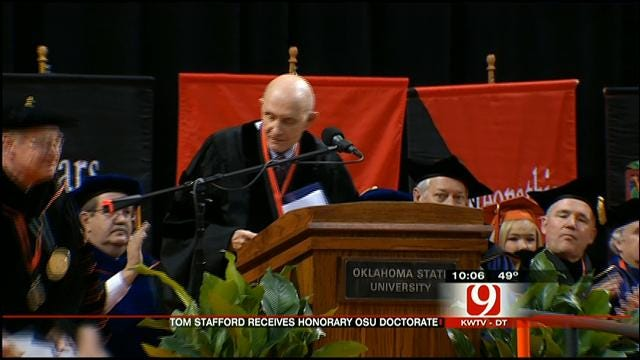 Retired Astronaut Receives Honorary Doctorate At OSU