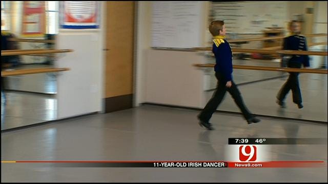 11-Year-Old Irish Dancer From Edmond Stops By News 9