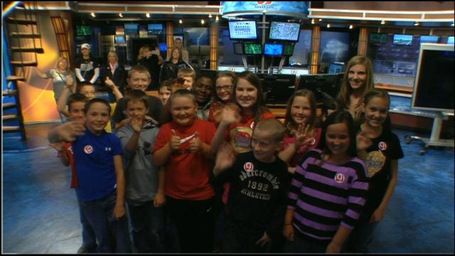 Chickasha Students Visit News 9