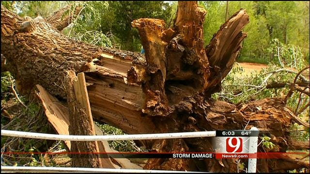 Oklahoma Residents Cleaning Up After Severe Storms