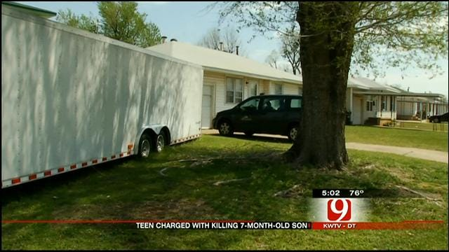 Del City Mother, 14, Faces Murder Charge In Infant Son's Death