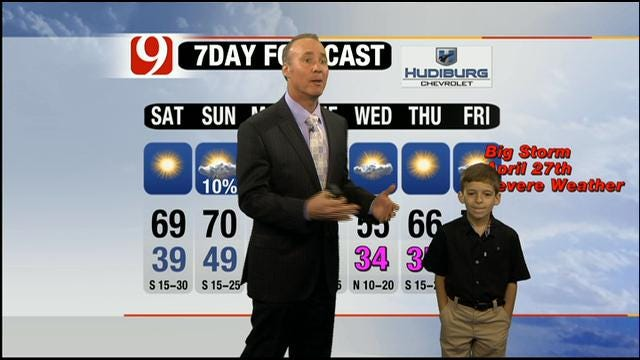 Dallas Boy Colby Is Weatherman For The Day On News 9 At Four