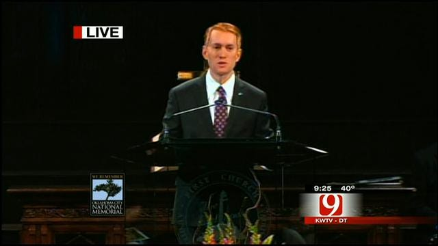 Congressman James Lankford Speaks At Bombing Remembrance Ceremony