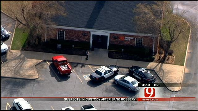 Arrests Made After Bank Robbery In Oklahoma City
