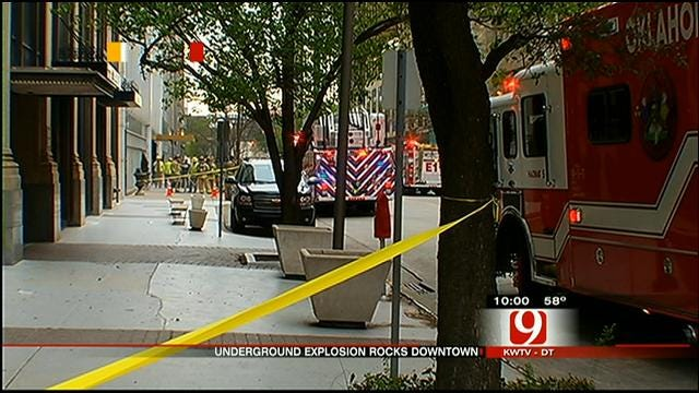 Witnesses React To Downtown OKC Transformer Explosion